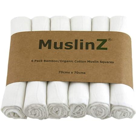 MuslinZ Serviette /à capuche douce et confortable 50 /% bambou 50 /% coton /Étoiles grises 75 x 75 cm