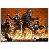 Zeo Qi Lin Zou Enfants Adultes Puzzle Call of Duty Black Ops 38x26cm Papier Mini 1000 pièces développement pensée Intelligence Jouets Cadeau d'anniversaire