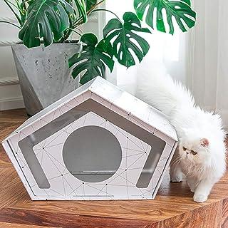 Pet Bed Cat Bed Pet Dog Four Seasons Universal, Cat Nest House Villa Closed Cat Scratching Board Summer Puppy Nest, Indoor...