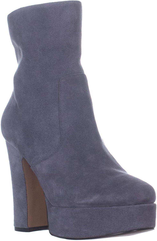 Avec Les Filles Womens Lianna Suede Heels Ankle Boots