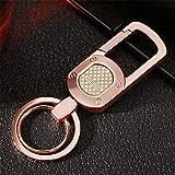 Ysss Llavero de Cintura Simple Llavero de Coche de Metal para Hombre Colgante Regalo de Actividad Re...