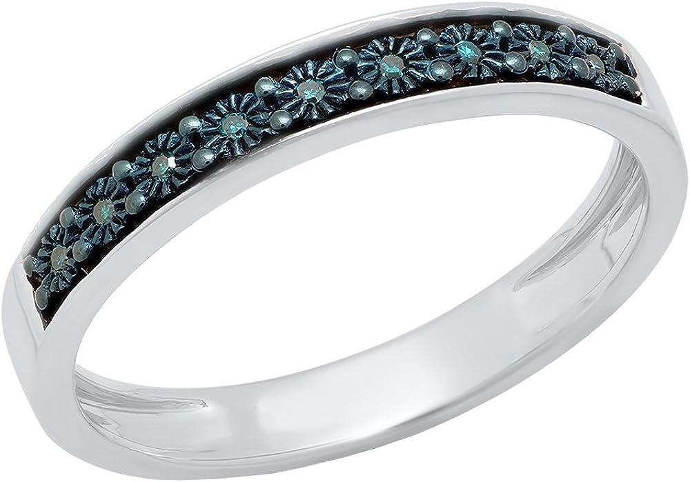 Dazzlingrock 2021 autumn and winter new Collection 0.05 Carat ctw Max 40% OFF Blue Ladi Diamond Round