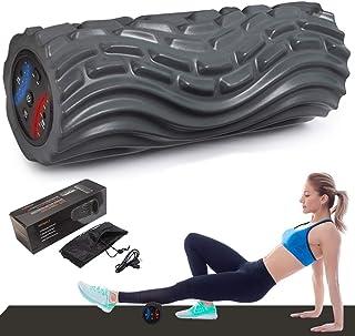 電動 フォームローラー 筋膜リリース 2020進化版 振動 5段階調節2種類モード ヨガポール トレーニング スポーツ フィットネス ストレッチ器具 USB充電式 日本語説明書付 収納バッグ
