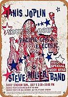 金属ティンサイン装飾鉄絵インチ、1970ジャニス・ジョプリンシアトルで面白い鉄絵ヴィンテージ金属プラーク装飾警告サイン吊りアートワークポスターバーパーク