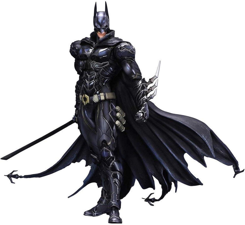 servicio de primera clase Shuihua DC Bat Bat Bat Hero Jugar Arts PVC Figura de acción Azul Negro Bat Hero  toma