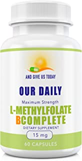 Sponsored Ad - Our Daily Vites L-Methylfolate 15 mg + B Complete B1 B2 B3 B5 B6 B7 B8 B9 B12 Choline Essential Active Fola...