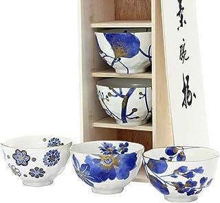 藍華 飯碗揃 茶碗5個セット ほんぢ園 0-1895