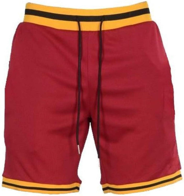 Men's Fitness Shorts Quick Dry Casual Comfortable Drawstring Elastic Waist