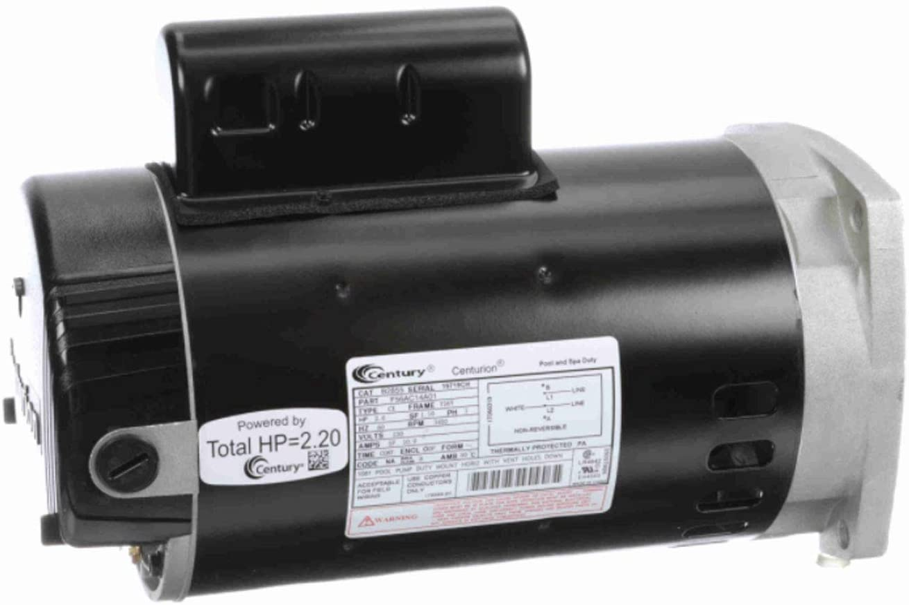 Regal Beloit B2855 Century 2 Dallas Mall 3450 230V RPM Stainless Horsepower Max 88% OFF