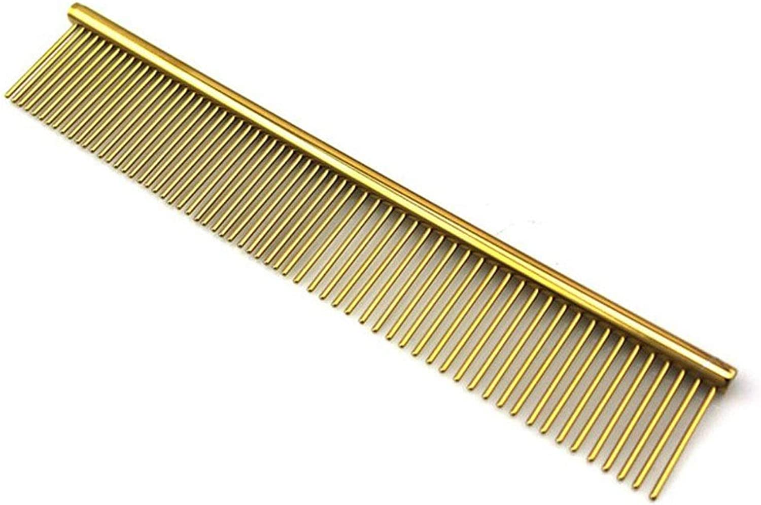 FANQIECHAODAN Pet Grooming BrushGentle BrushEfficient Pet Hair Remover Tool with Enhancedfor Dogs&Cats with Long&Short Hair (color   gold)