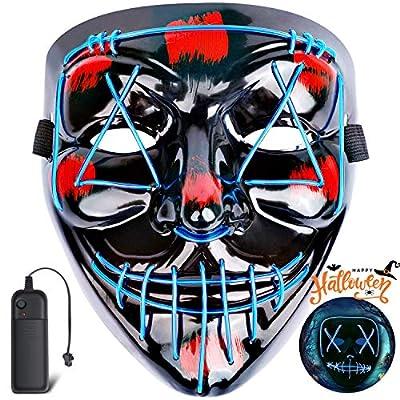 Coolflash Light Up Masks Purge Stitched LED Lig...