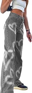 N-B Vintage Heart Printed Y2 K Baggy Jeans Women High Waist Harajuku Aesthetic Mom Jeans Denim Streetwear90s Trousers