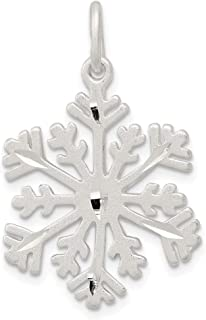 925 Sterling Silver Snowflake Pendant Charm Necklace Winter Fine Jewelry Gifts For Women For Her
