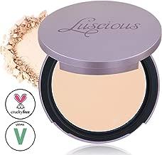 Luscious Cosmetics Velvet Matte Oil Control Pressed Powder Foundation| Vegan and Cruelty Free | Multi-use Foundation & Setting Powder (#0 Lightest Beige w/Neutral Undertones 0.35oz)