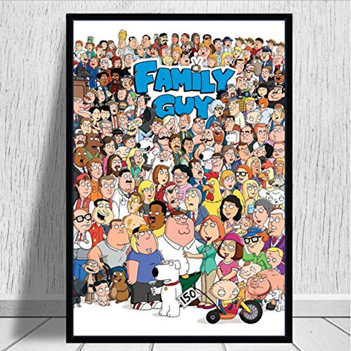 tgbhujk Family Guy Hot Cartoon Die Simpsons Kunst Poster Leinwand Malerei Wandbild Home Decor Poster Und Drucke 50 * 75 cm Ohne Rahmen