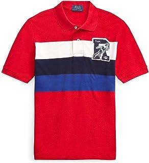Polo Ralph Lauren Boy`s Letterman Patch Cotton Mesh Polo Shirt