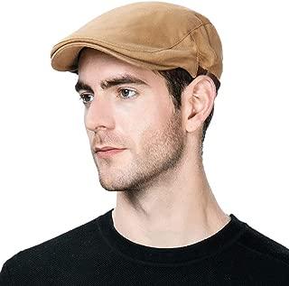 Men's Flat Cap Ivy Gatsby Newsboy Driving Hunting Hat Cotton/Wool Herringbone/Plaid Tweed