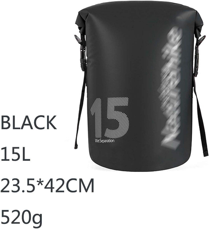 Waterproof Bag PVC Dry Bags Beach Outdoor Camping Hiking Sports Backpack,Black 15L