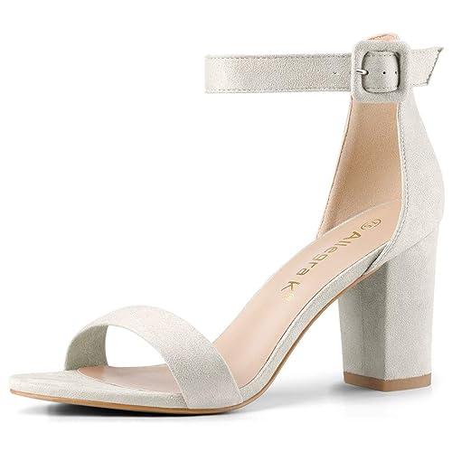 0b72abc295da5 Allegra K Women s High Chunky Heel Buckle Ankle Strap Sandals