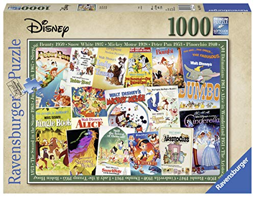 Ravensburger Puzzle 19874 - Disney Vintage Movie Poster - 1000 Teile