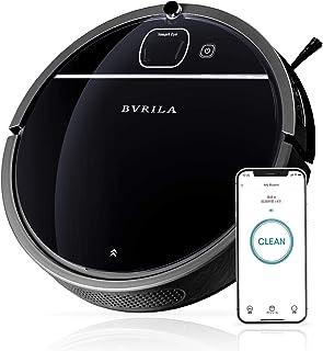 BVRILA BL-05W スマートロボット掃除機 超薄型 絨毯掃除 フローリングカーペット対応 1800PA 強力な吸引 衝突&落下防止 自動充電 遠隔操作 静音設計 WiFi 対応 ビジュアルナビゲーション計画ルート【Alexa対応】