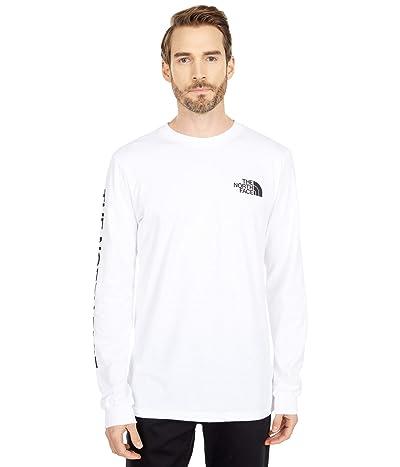 The North Face Long Sleeve TNFtm Sleeve Hit T-Shirt (TNF White/TNF Black) Men