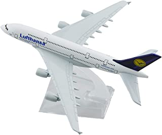 MINLIN 16cm Alloy Metal Germany Air Lufthansa A340 Airlines Aeroplane Model Lufthansa Airbus 340 Airways Plane Model Aircr...