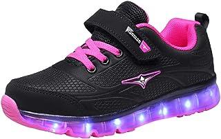 AIkuass Fashion LED Light Up Flashing Kids Boys Girls Sneakers Shoes