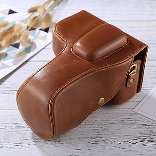 HONGYUE Bolsa de Cuero de la PU de la cámara del Cuerpo Completo de for Nikon D3200 / D3300 / D3400 (Lente 18-55mm / 18-105mm) (Negro) (Color : Brown)
