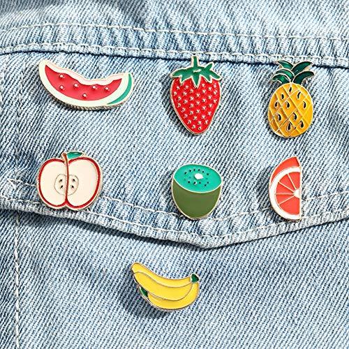 YSoutstripdu Pin De Broche De Fruta De Dibujos Animados Encantador para Insignia De Cuello De Camisa De Chaqueta De Mezclilla Naranja#None
