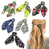 Coleteros para cabello con lazo largo de satén, accesorio elástico para coleta o moño