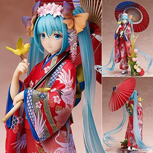 Hatsune Miku Ropa Coloreada Kimono Yukata Figura