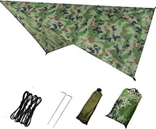 Camping Tarp Tent Hammock Rain Fly Waterproof Tent Footprint Shelter Canopy Sunshade Cloth Picnic Mat Mutifunctional Tent ...