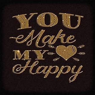 Happy Heart Gold Poster Print by Ashley Sta Teresa (11 x 14)