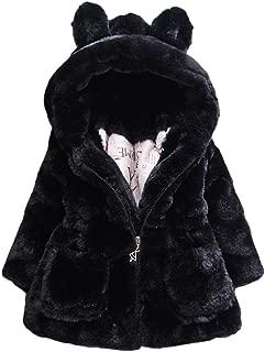 toddler black faux fur coat