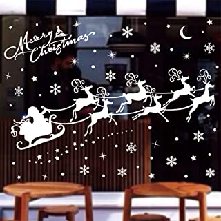 QIDIANTRADE Merry Christmas Window Clings Decal Stickers Thanksgiving Decorations Ornaments Party Supplies