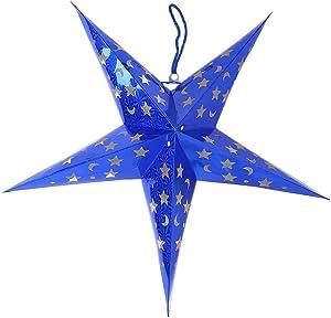 Gulin Paralume Lanterna di carta Per la festa di nozze di Natale appeso Deco Blu, 60CM