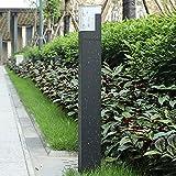 LED Außen-Standleuchte, Wegeleuchte Grau,Wasserdicht Spritzwassergeschützt,Sockelleuchte aus...