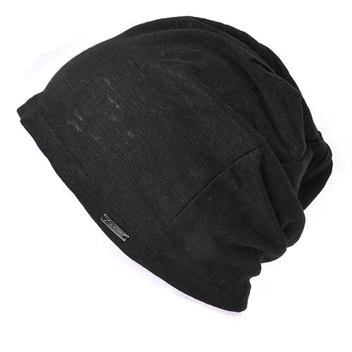 e6d26334160 Linen Mens Summer Beanie - Slouchy Lightweight Knit Hat Cap Made in Japan  By Casualbox