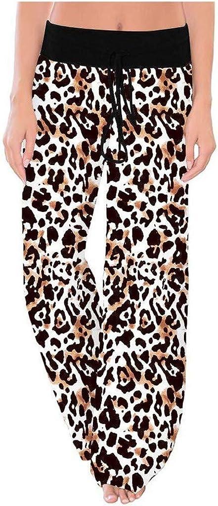 AODONG Sweatpants for Women Plus Size,Comfy Pajamas Pants Casual Drawstring Wide Leg Palazzo Lounge Pants