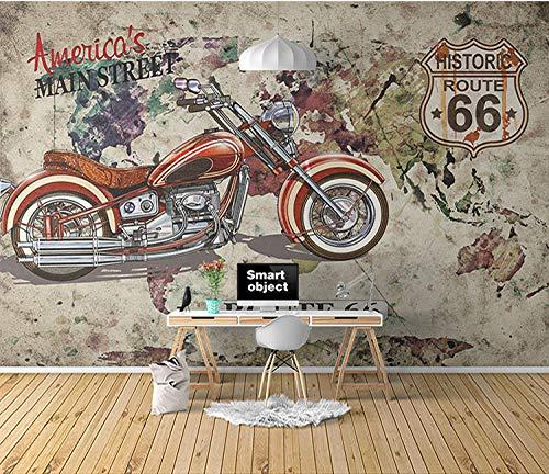 WLPBH Zelfklevende 3D muurschildering Retro Graffiti Motor Racing Wallpaper Jongen Kamer Decoratie Kinderen 3D Fotobehang Prinses Muurschildering Slaapkamer Kinderen Kamer Muurdecoratie Achtergrond Behang 450x300 cm (WxH) 9 stripes - self-adhesive