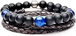 Best mens leather beaded bracelet Reviews