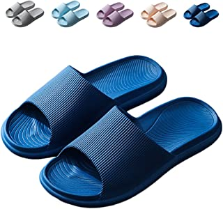 Finleoo Lightweight Women/Men's Slip On Slippers Non-Slip Shower Sandals House Pool Shoes Bathroom Slide Water Shoes
