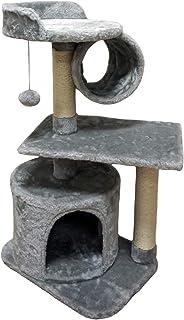 FISH&NAP 01Hキャット ツリー キャット タワー 猫 コンド シサル スクラッチ ポスト ジャンプ付き プラットフォーム と 猫 リング 猫 家具 活動 センター 子猫 プレイ ハウス グレー