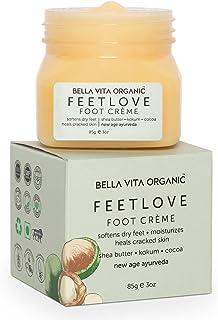 Bella Vita Organic Feet Love Foot Cream Softens Hydrates Dry Feet, Moisturizes & Repairs Cracked Heel & Skin, Combats feet...