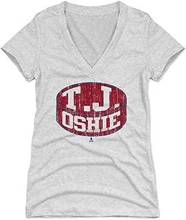 500 LEVEL T.J. Oshie Women's Shirt - Washington Hockey Shirt for Women - T.J. Oshie Puck