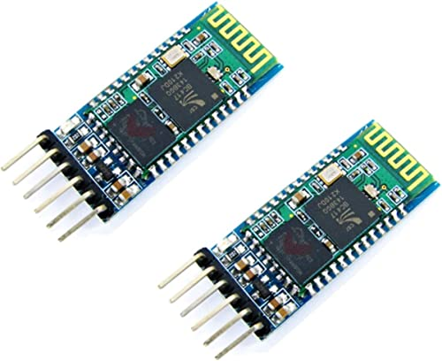 TECNOIOT 2pcs HC-05 Integrated Bluetooth Module Wireless Serial Port Module HC05
