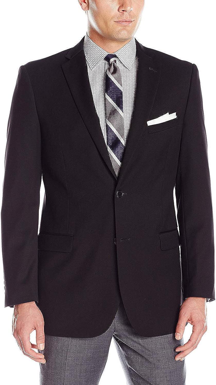 Adolfo Men's Micro Tech Portly Suit Jacket