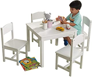 KidKraft Barnbord med 4 stolar vit