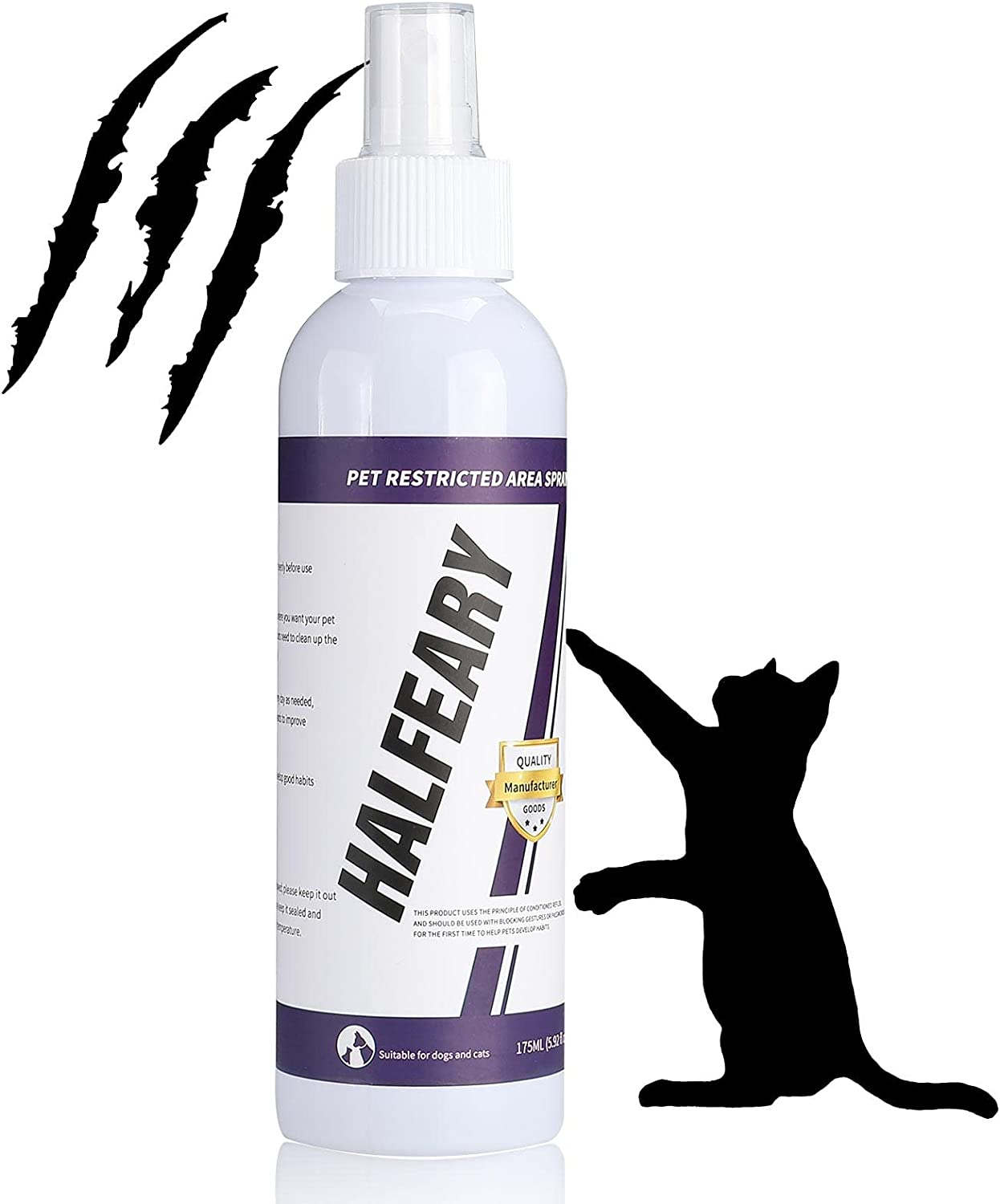 Cat Repellent Spray for Scratch - Cat Deterrent Spray Protect Our Furniture, Plants, Floor, Suit for Indoor and Outdoor, Cat Spray Deterrent for Anti Scratching & Biting, Cat & Kitten Training Aid